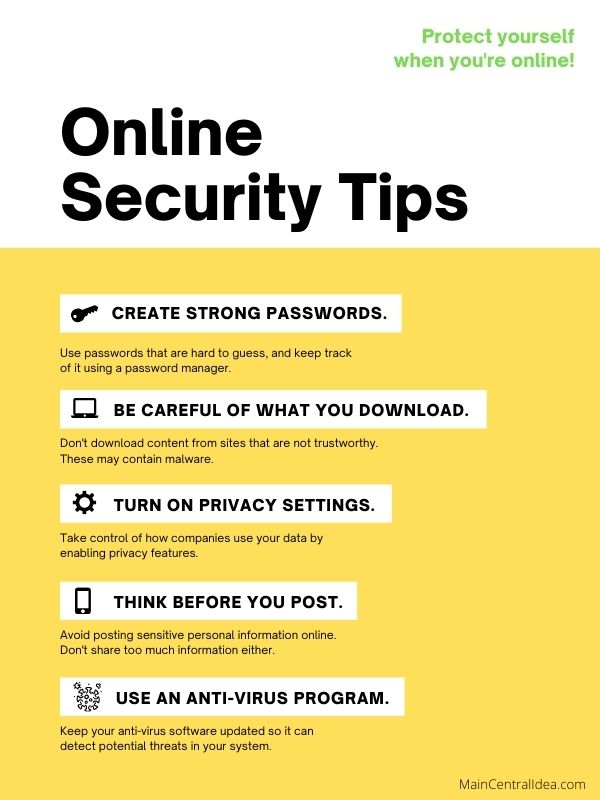 Online Security Tips Image