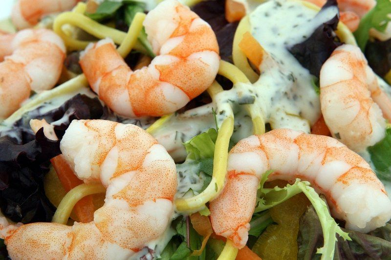 Shellfish seafood shrimps-prawn