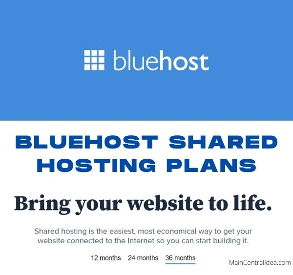 Bluehost Shared Hosting Plans Packages