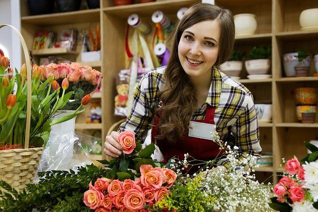 flower business idea shop girl